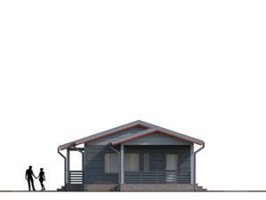 Каркасный дом на 81 м2