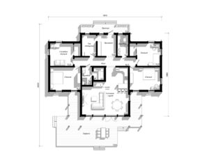 Каркасный дом на 253 м2