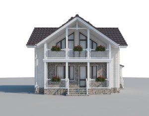 Каркасный дом на 110 м2