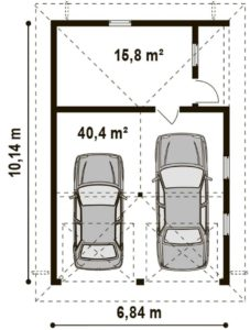 Гараж под 2 машины