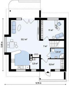 Дом на 105 м2
