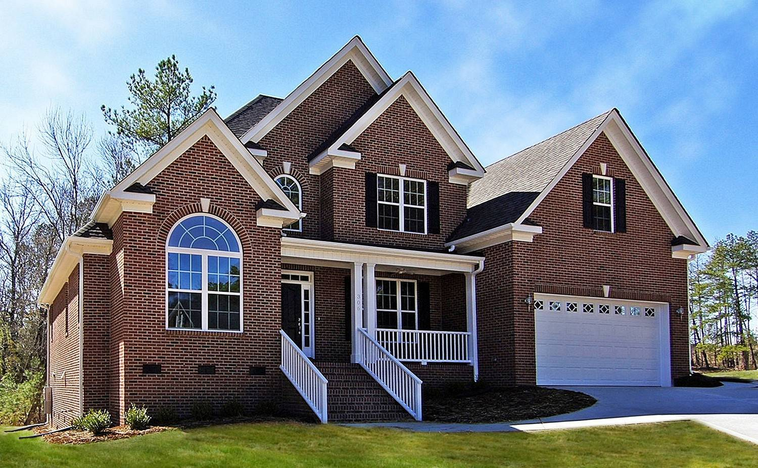 all brick homes house plans 517514