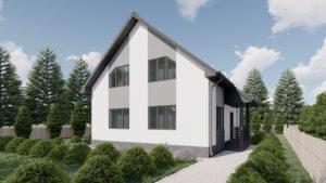 Визуальный проект дома на 140 м2