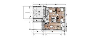 План одноэтажного дома на 105 м2 с гаражом