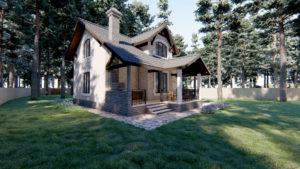 Визуальное изображение дома на 109,8 м2