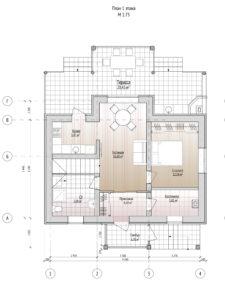 План второго этажа дома 109,8 м2