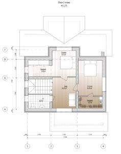 План первого этажа дома 109,8 м2