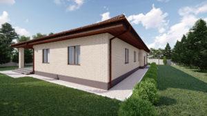 Визуальное изображение дома на 105 м2